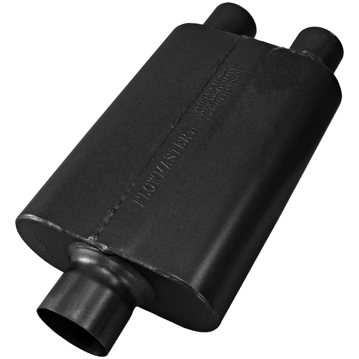 """Flowmaster 430402 Universal Muffler 40 Series 3/"""" Center In//2.5/"""" DUAL Out"""