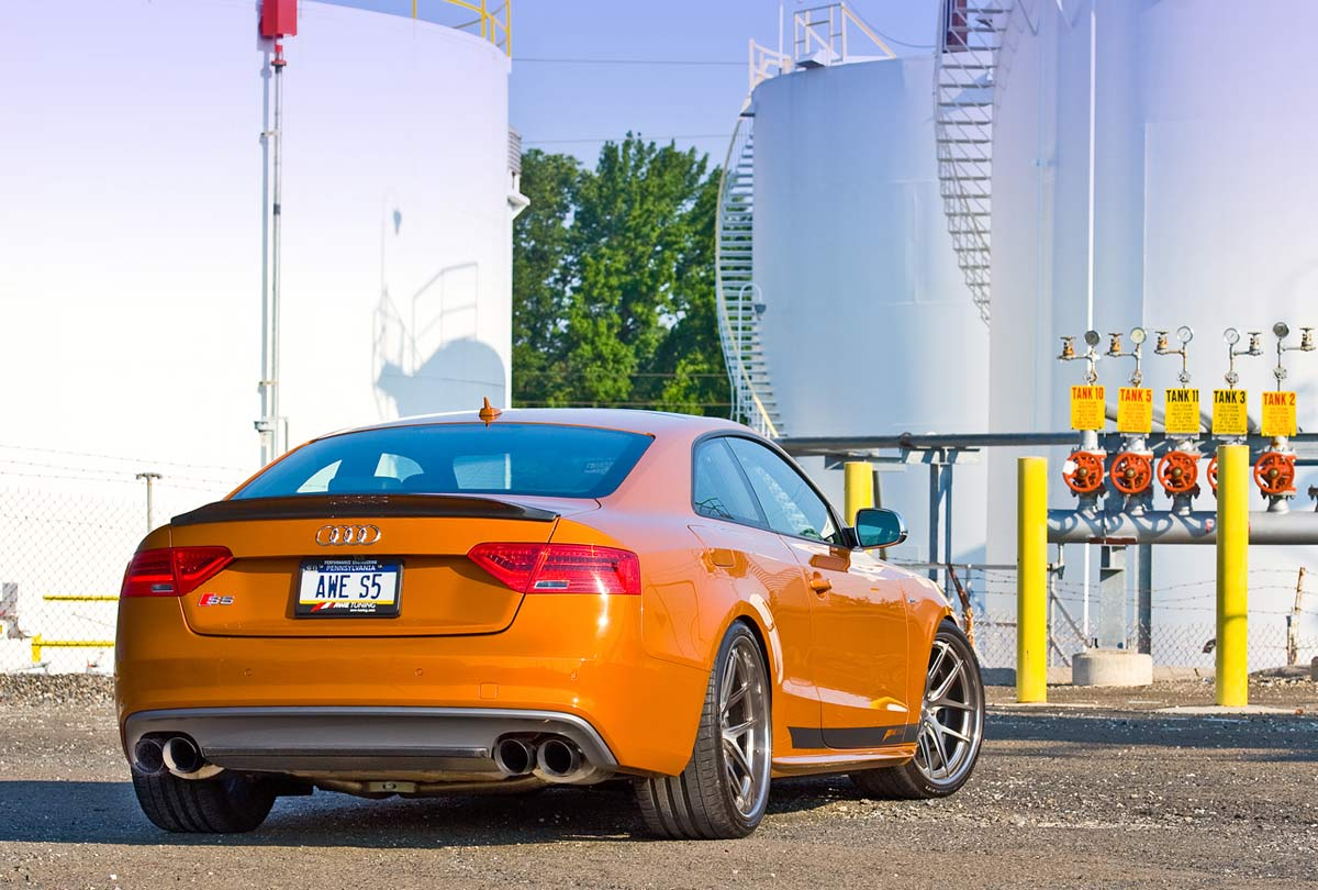Awe Tuning 3010 42030 Audi S5 Coupe 30t Touring Edition Exhaust Fuse Box System Polished Silver Tips 102mm 2013 2017