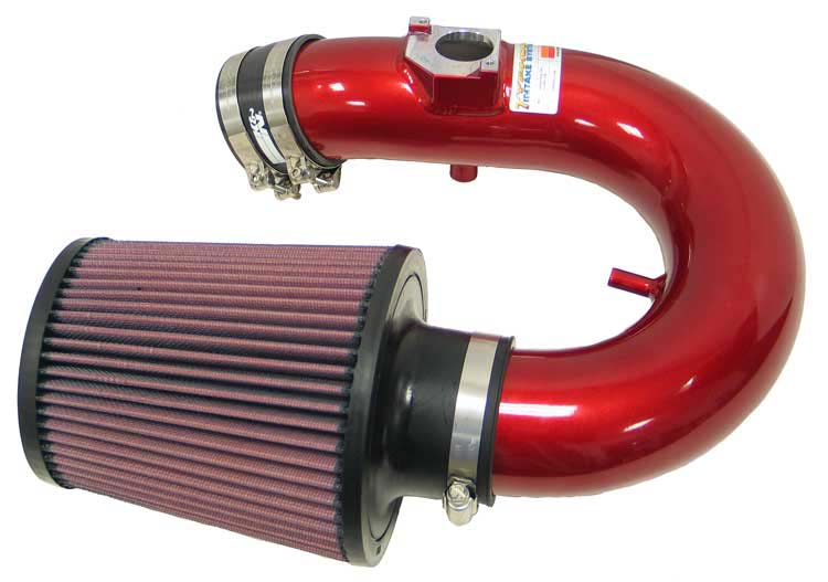 K&N Filter 698750TR - K&N Typhoon Air Intake System For (eu) toyota Celica L4-1.8l 143bhp Red