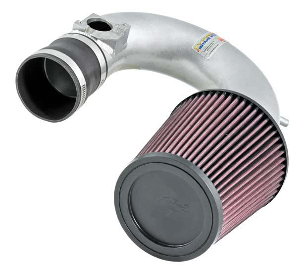 K&N Filter 698752TS - K&N Typhoon Air Intake System For (eu) toyota Celica L4-1.8l Silver