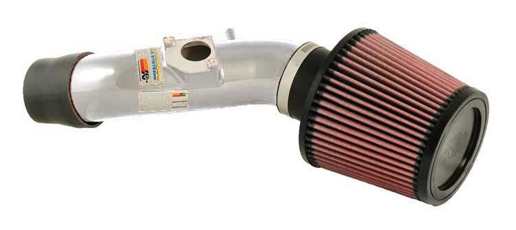 K&N Filter 69-8754TP - K&N Typhoon Air Intake System For (eu) toyota Corolla L4-1.6l 2002-06 Polished