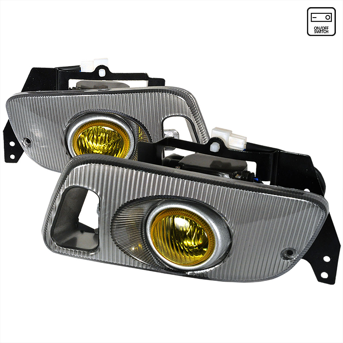 Spec-D Tuning LF-CV923AMOEM - Spec-D 92-95 Honda Civic Oem Fog Lights Yellow