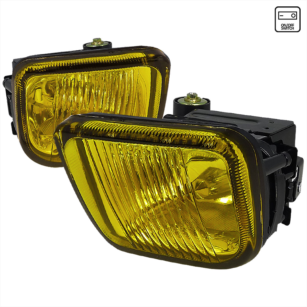 Spec-D Tuning LF-CV96AM-WJ - Spec-D 96-98 Honda Civic Fog Lights - Amber