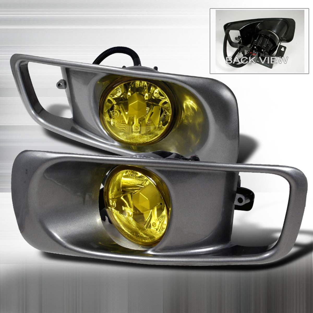Spec-D Tuning LF-CV99AM-DP | Spec-D Depo Civic Fog Lights (Yellow); 1999-2000 & Spec-D Tuning LF-CV99AM-DP | Spec-D Depo Civic Fog Lights (Yellow); 1999-2000