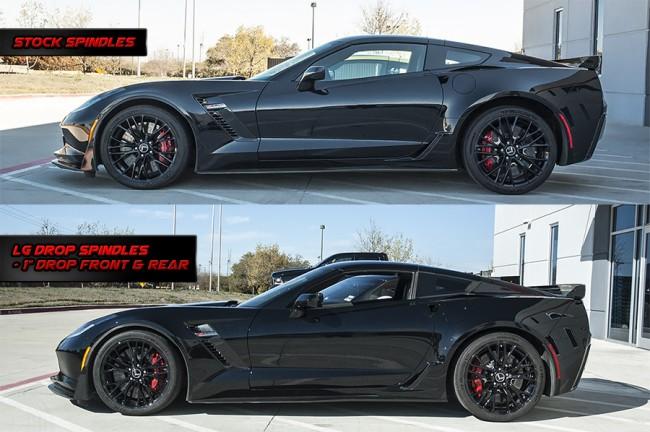 LG Motorsports LGC7DPS | Drop Spindles for Corvette C7 / Z06