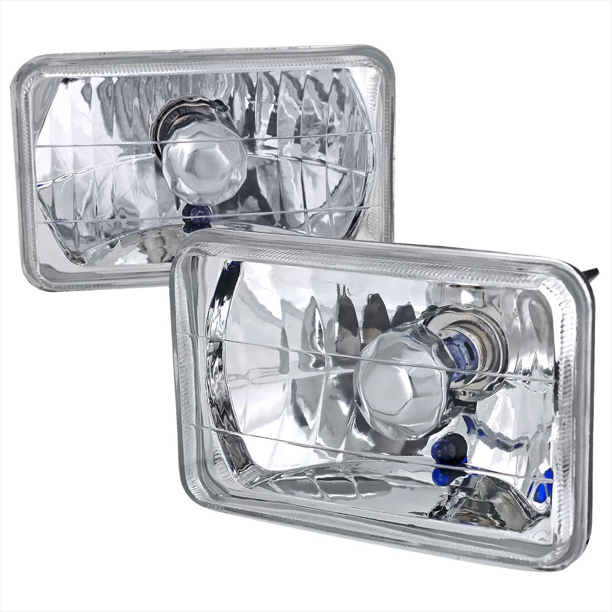 Spec-D Tuning LH-4X6 - Spec-D 4x6 Headlights - Crystal