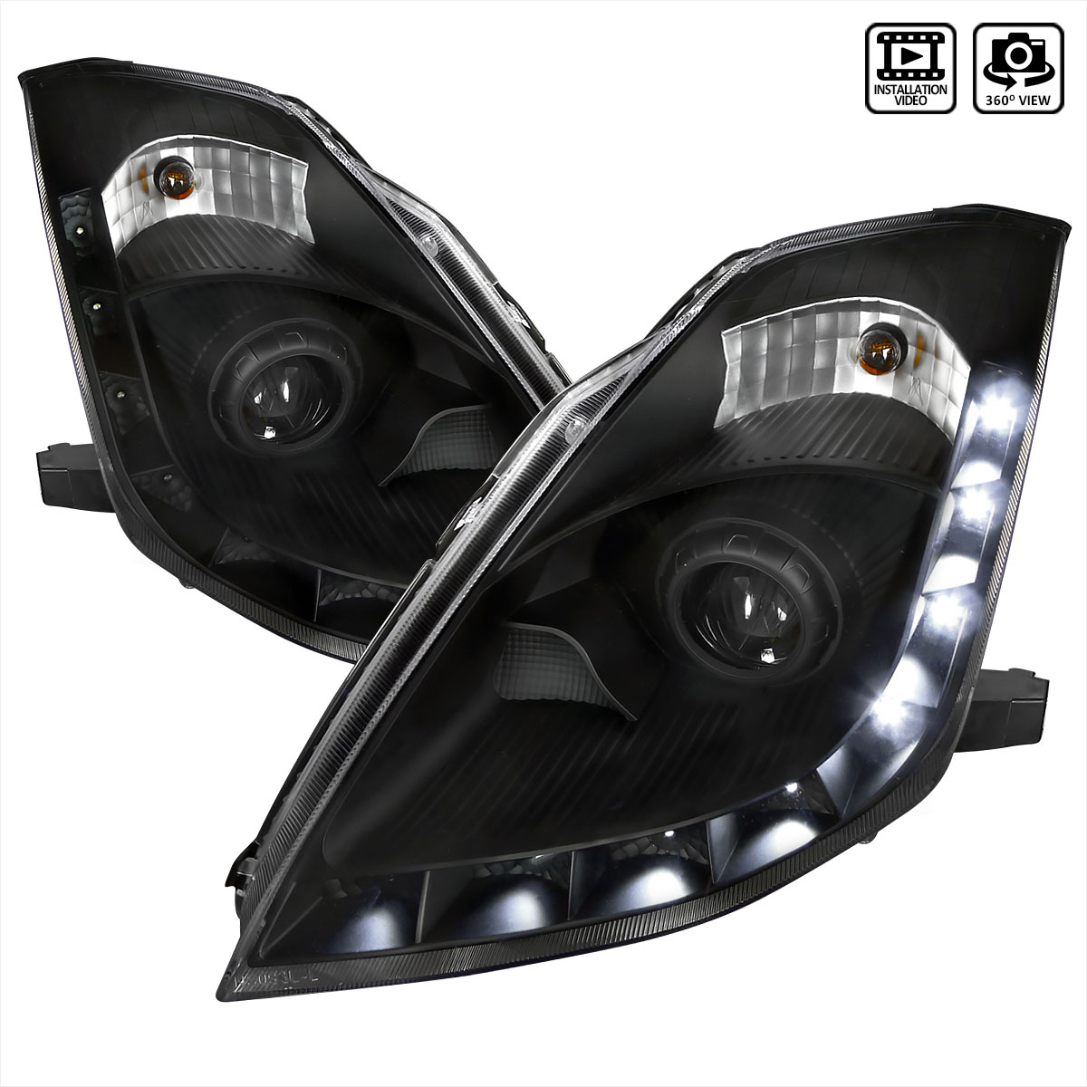 Spec D Tuning Lhp 350z06jm Rs Nissan 350z Projector Headlights Black 2006 2006