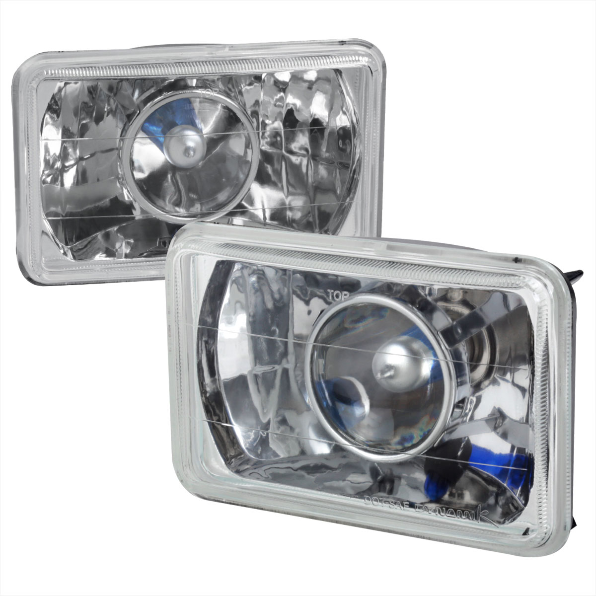 Spec-D Tuning LHP-4X6 - Spec-D 4 X 6 Projector Headlights