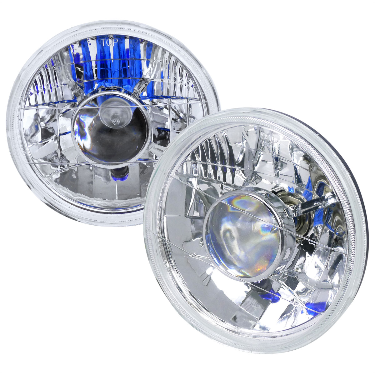 Spec-D Tuning LHP-7RND - Spec-D 7 Projector Headlights - Round W,h4