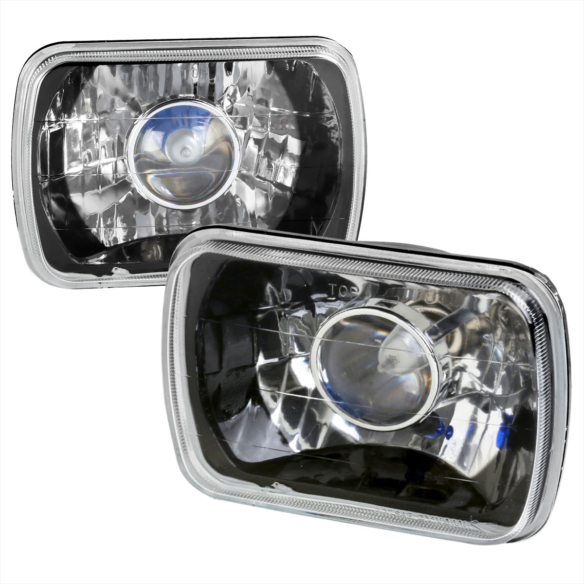 Spec-D Tuning LHP-7X6JM - Spec-D 7 X6 projector Headlights - Black