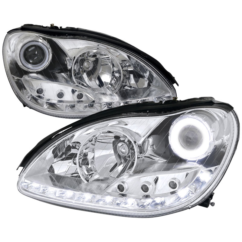 Spec D Tuning Lhp Bw22000 V2 Apc Mercedes Benz W220 S Class Projector Headlights Chrome 2000 2006