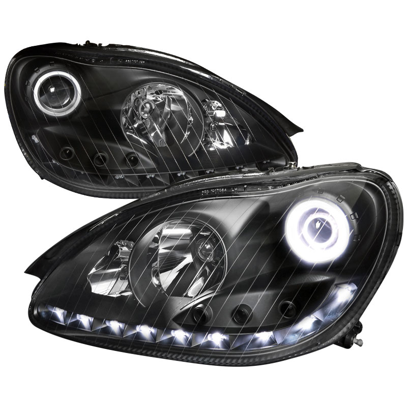Spec D Tuning Lhp Bw22000jm V2 Apc Mercedes Benz W220 S Class Projector Headlights Black 2000 2006