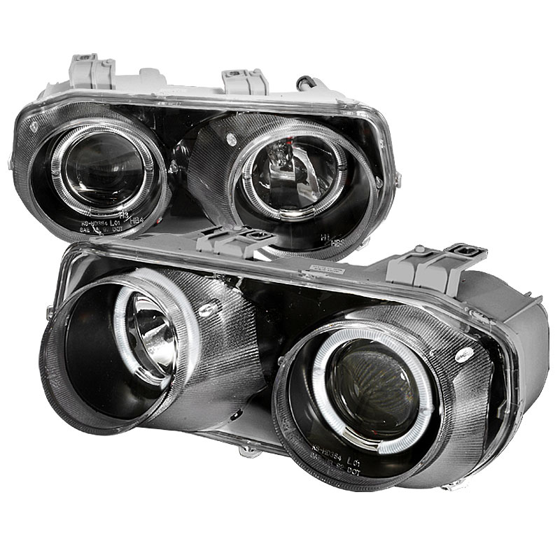 Spec D Tuning Lhp Int94jm Ks Acura Integra Halo Projector Headlights Black 1994 1997