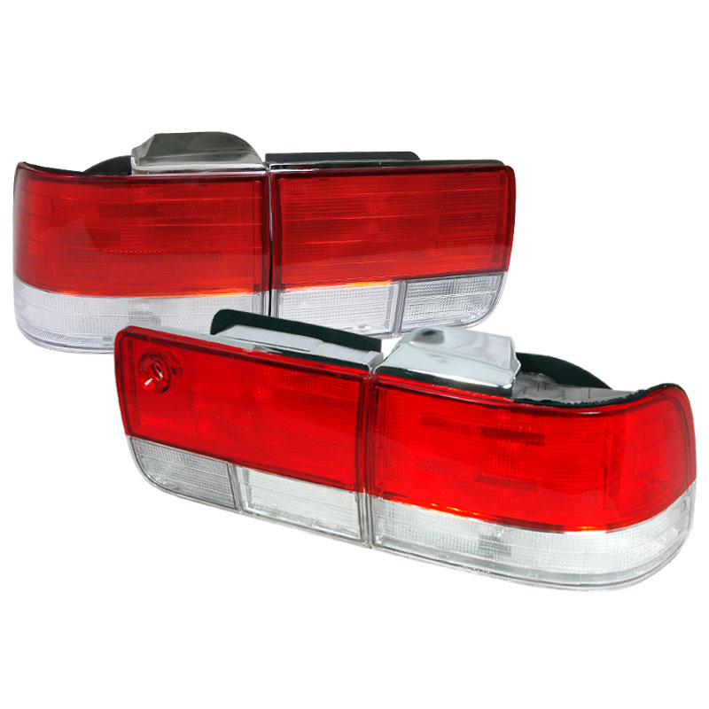 Spec-D Tuning LT-ACD924RPW-DP - Spec-D 92-93 Honda Accord Taillights - Red/clr (lt-acd924rpw-dp)