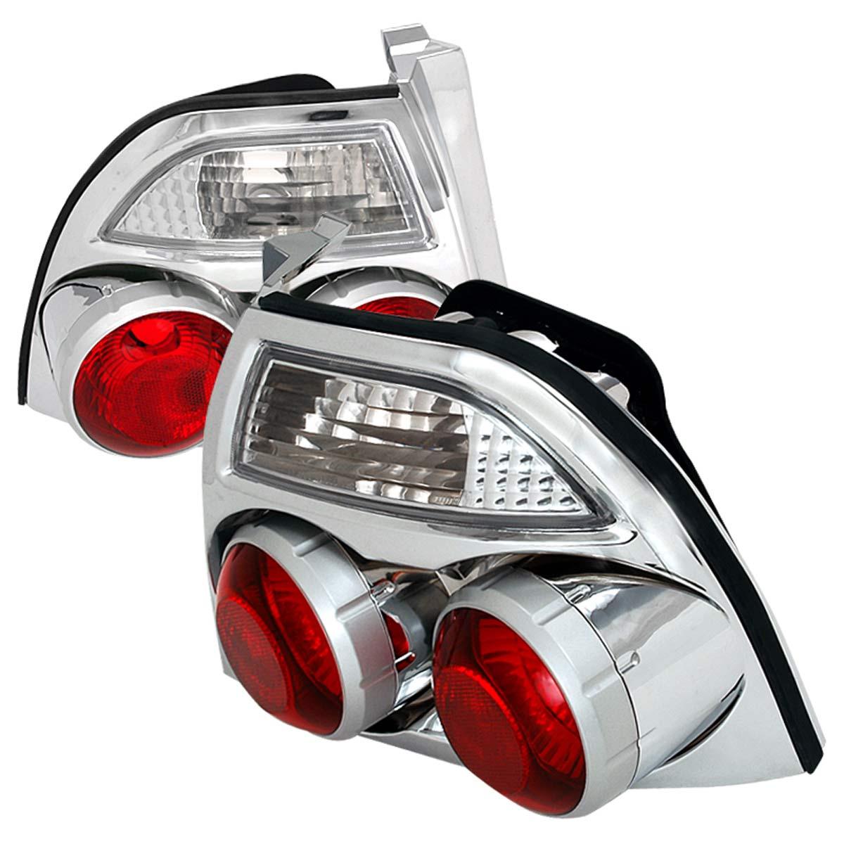 Spec-D Tuning LT-ACD94-GN - Spec-D 94-95 Accord Jdm Skyline Taillights - Chrome (lt-acd94-gn)