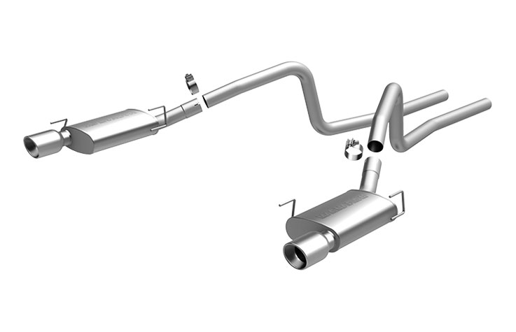 Magnaflow 16570 | Mustang GT V8 Exhaust System with pipes DUAL SPLIT REAR  EXIT