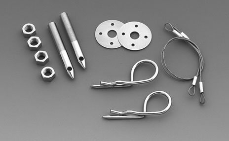 LMPerformance MG1619 - Hood Pin Kit - 3 inch Oval Track