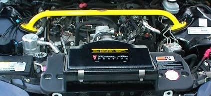 BMR Suspension MSTB002 - BMR Chrome moly shock tower brace, 1993-2002 V6 all. 1993-1997 SS Camaro V8 / V6