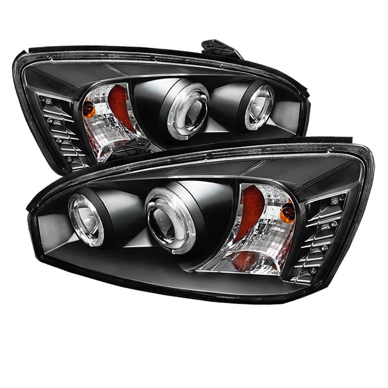Spyder 5042675 | Chevrolet Malibu Halo Projector Headlights - Black -  (PRO-YD-CM04-HL-BK)