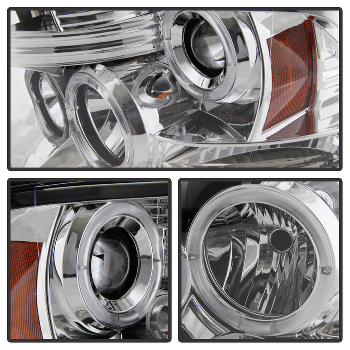 Spyder 5010049 | Dodge Ram ST SLT (Not Fit Big  Horn/Laramie/outdoorsman/Longhorn or Non Quad Headlights ) Halo LED (  Replaceable LEDs ) Projector