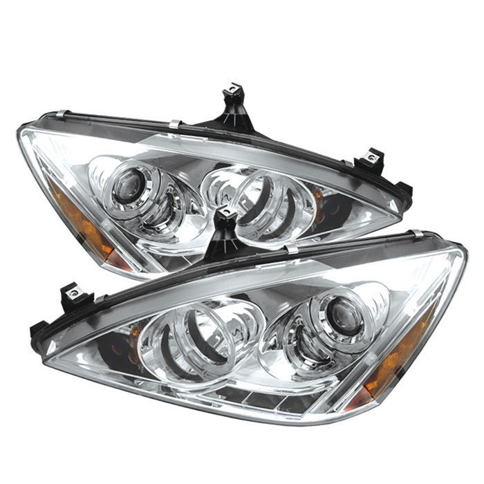 Spyder PRO-YD-HA03-AM-C - Spyder Honda Accord 03-07 Halo LED ( Replaceable LEDs ) Projector Headlights - Chrome