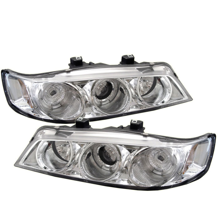 Spyder PRO-YD-HA94-AM-C - Spyder Honda Accord 94-97 1PC Halo Projector Headlights - Chrome