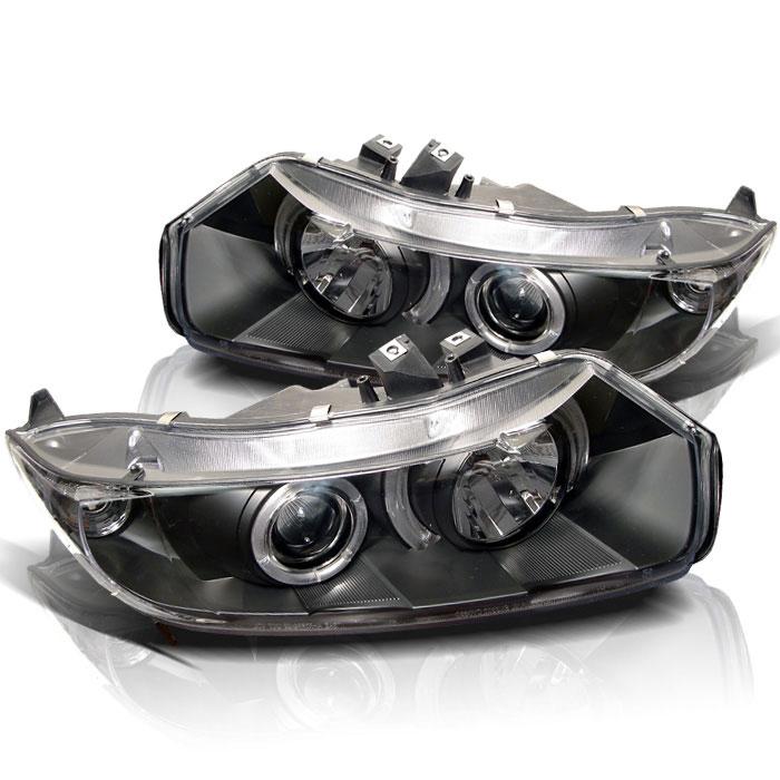 Spyder PRO-YD-HC06-2D-HL-BK - Spyder Honda Civic 06-08 2Dr Halo Projector Headlights - Black