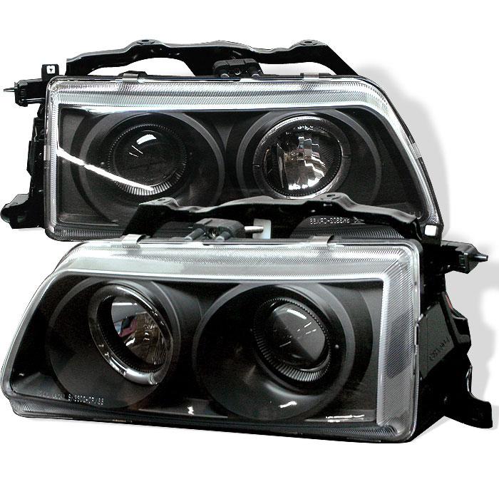 Spyder PRO-YD-HC90-HL-BK - Spyder Honda Civic 90-91 Halo Projector Headlights - Black