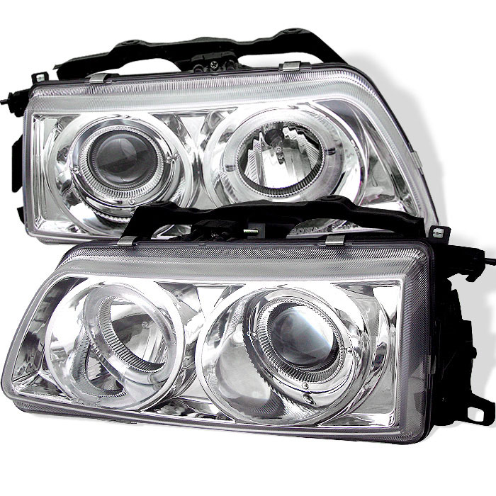Spyder PRO-YD-HC90-HL-C - Spyder Honda Civic 90-91 Halo Projector Headlights - Chrome