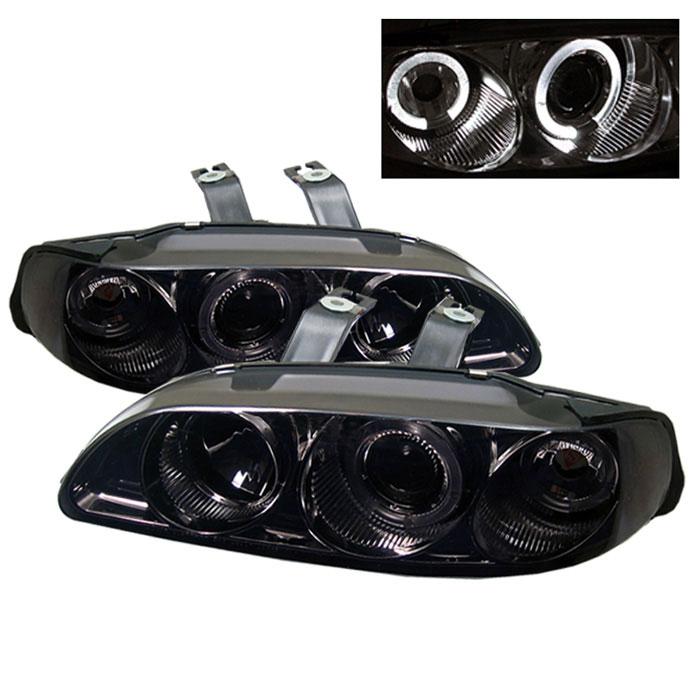 Spyder PRO-YD-HC921P-4D-AM-SMC - Spyder Honda Civic 92-95 4Dr 1PC Halo Projector Headlights - Smoke