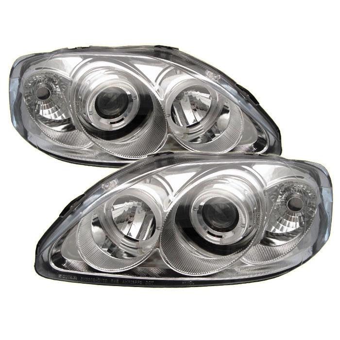 Spyder PRO-YD-HC99-AM-C - Spyder Honda Civic 99-00 Halo Projector Headlights - Chrome