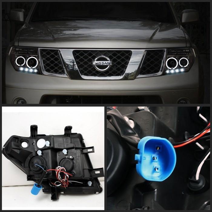 Spyder 5011541 Nissan Pathfinder Halo Led Replaceable Leds Projector Headlights Smoke Pro Yd Nf05 Hl Sm 2005 2007