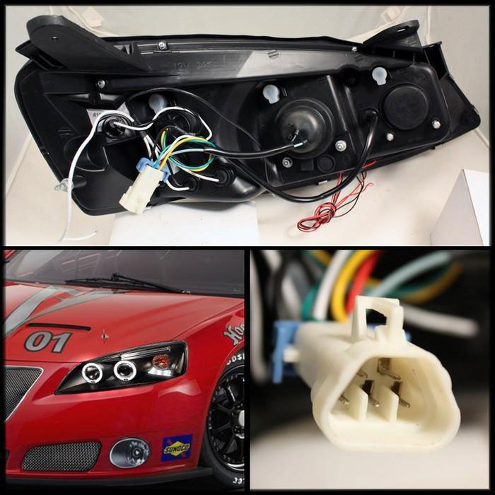 Spyder 5011596 Pontiac G6 2 4dr Halo Led Replaceable Leds Projector Headlights
