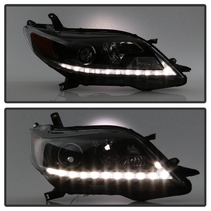 Spyder 5084002 Toyota Sienna Projector Headlights Halogen Model Only Drl Led Black