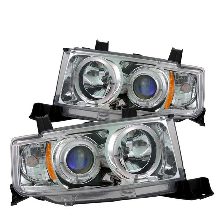 Spyder PRO-YD-TSXB03-HL-C - Spyder Scion XB 03-07 Halo Projector Headlights - Chrome