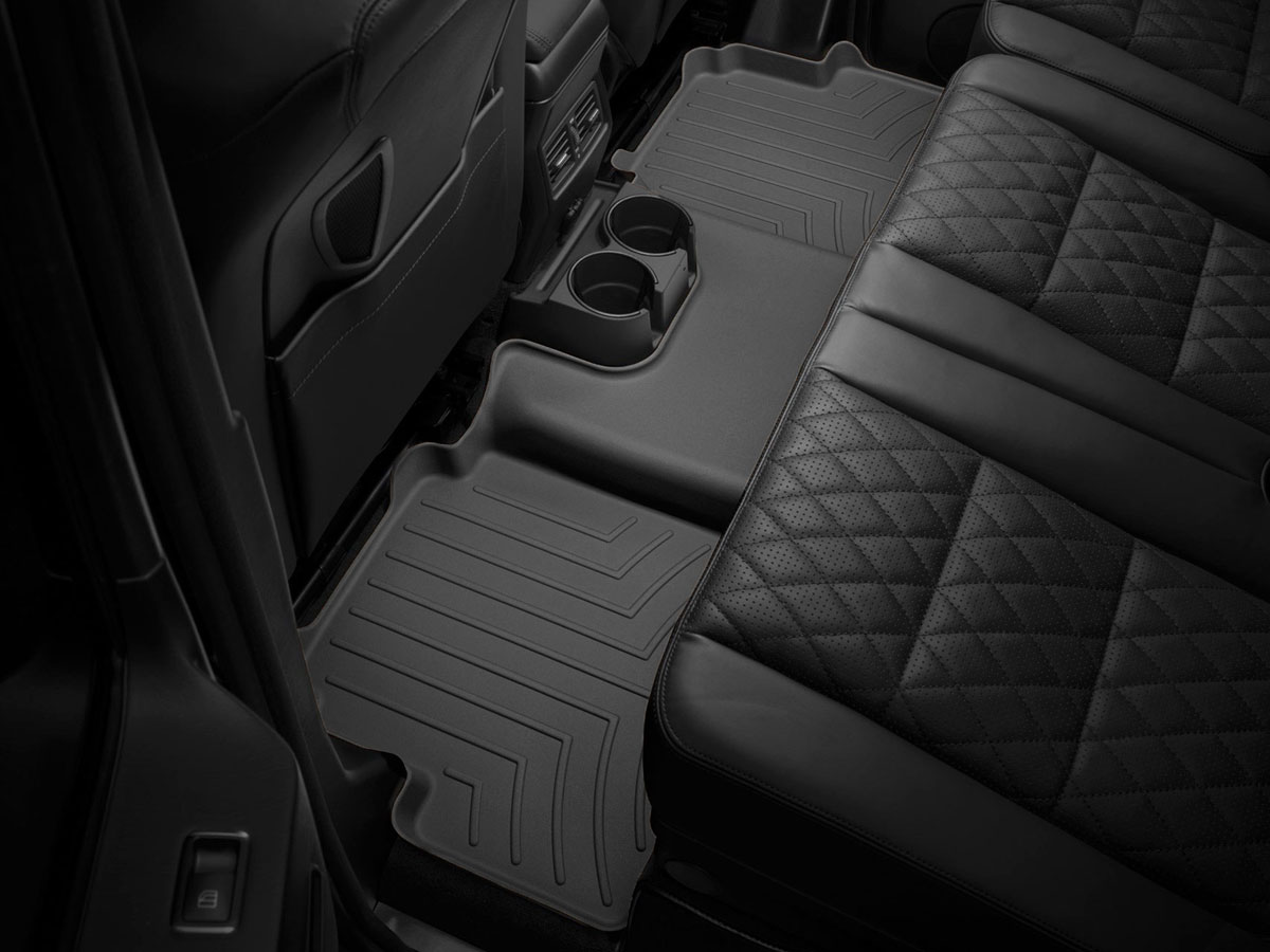 Black WeatherTech Custom Fit Rear FloorLiner for Pontiac G8