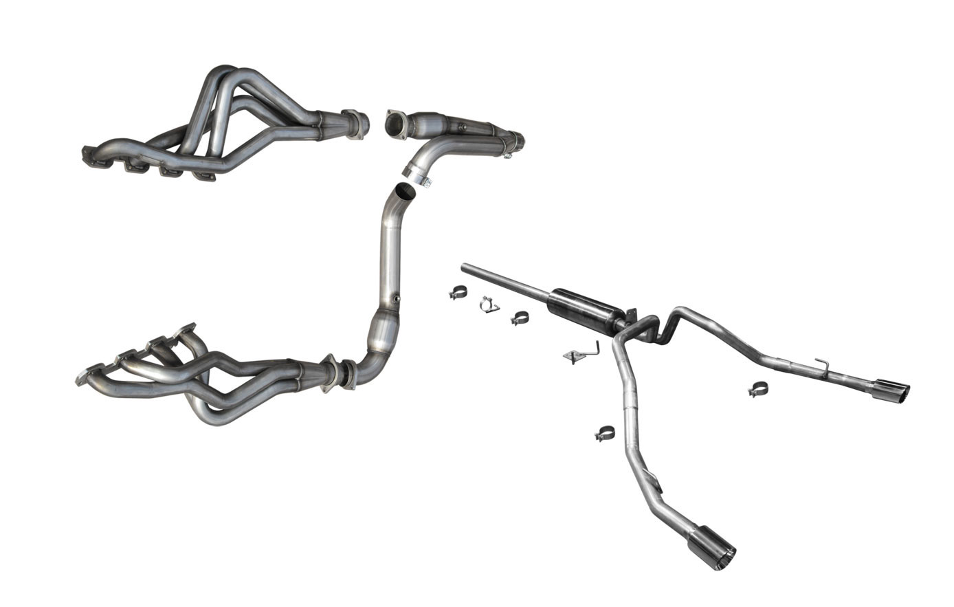 American Racing Headers RM158-13178300FSWC | Dodge Ram 1500 8-speed Full  System With Cats: 1-7/8 in x 3in Headers, 3in Y-Pipe and Exhaust System