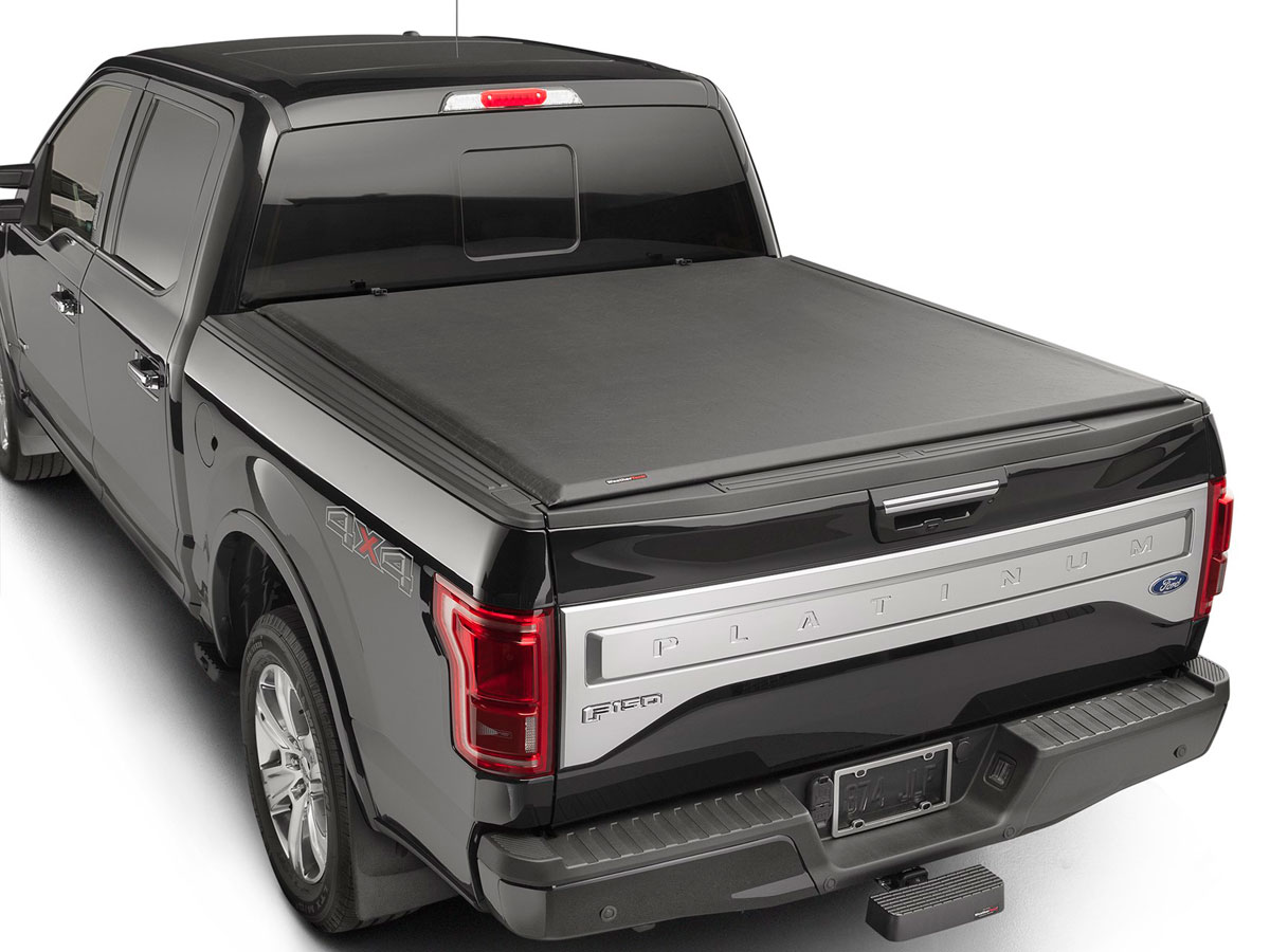 weathertech 8rc1365 roll up truck bed cover ford f 150 2015 2016 black 5 6 bed - Ford Truck 2015 Black