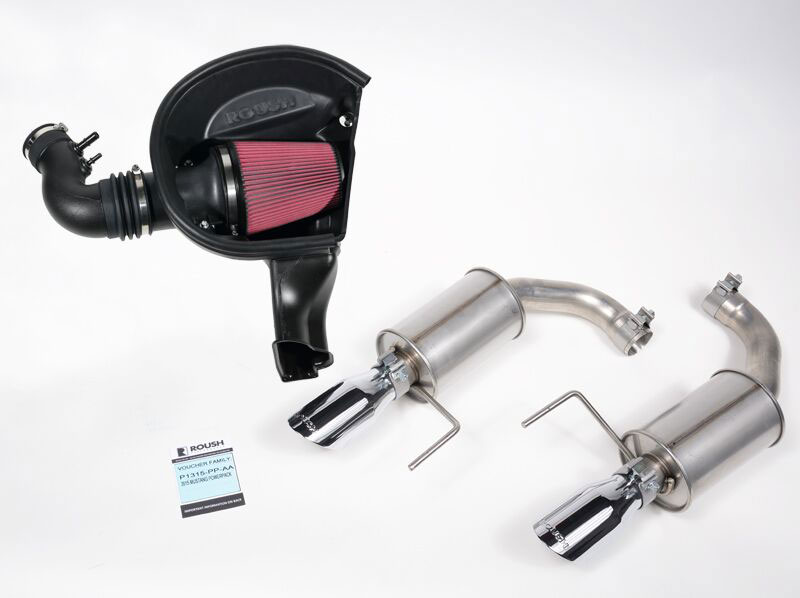 2015-2017 Roush Mustang V6 3.7L Cold Air Intake /& Axle Back Exhaust System Set