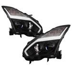Spyder Nissan GTR R35 09-14 - Projector Headlights - DRL LED - Black; 2009-2014