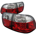 Spyder Honda Civic 96-98 4Dr LED Tail Lights - Red Clear