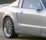 Xenon Mustang Side Fender Panel Scoops (Pair) Mustang V8; 2005-2009