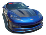 RKSport Corvette C6 Supercharger Hood in Carbon Fiber; 2005-2013