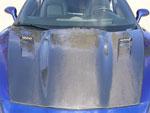 RKSport Corvette C6 Violator Supercharger Hood in Carbon Fiber; 2005-2013