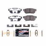 Power Stop 86-01 Acura Integra Rear Z26 Extreme Street Brake Pads w/Hardware; 1986-2001