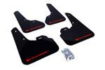 Rally Armor 2010+ Mazda3/Speed3 UR Black Mud Flap w/ Red Logo; 2010-2021