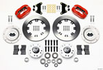 Wilwood Forged Dynalite Front Kit 12.19in Red 49-54 Chevy/53-62 Corvette (*Line Kit Needed*); 1954-2021