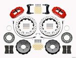 Wilwood Narrow Superlite 6R Front Hat Kit 12.88in Drill Red 2005-Up Mazda Miata w/ Lines; 2005-2021