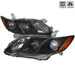 Spec-D Tuning Toyota Camry Projector Headlight Black; 2007-2009