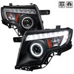 Spec-D Tuning Ford Edge Projector Headlight Black Housing; 2007-2010